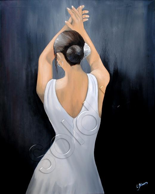 Flamenco blanco (2011), 100 x 80 cm, Öl & Acryl auf Leinwand