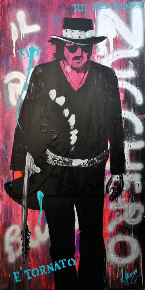 Zucchero (2013), 100 x 50 cm, Mixed Media on canvas