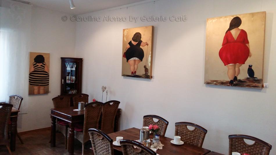 """Galerie Cafe, Bergisch Gladbach """"Kurvige Mädels"""" im Januar 2017"""