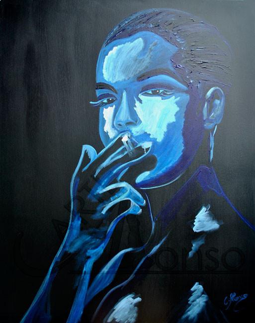 Smoke III (2013), 100 x 80 cm, acrylic on canvas