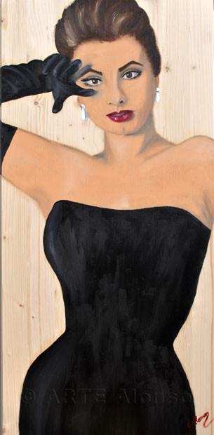 Ich behalte dich im Auge.. (2011), 80 x 40 cm, Öl auf   Holzplatte