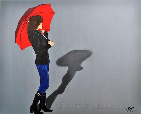 Warten auf Regen (2011), 70 x 100 cm,