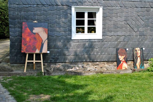 Kunst- & Handwerksausstellung Kürten Selbach mit Villa Farbenherz April 2014
