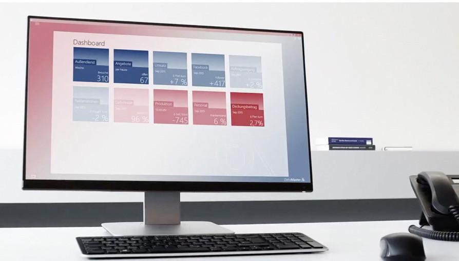 High-end-Analyse auf den ersten Blick - Dashboard von DeltaMaster.