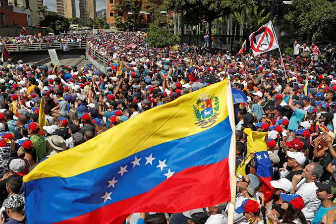 Proteste in Venezuela (Elias Emilio Braga mit CC BY-SA 3.0 - Lizenz via Wikimedia-Commons)