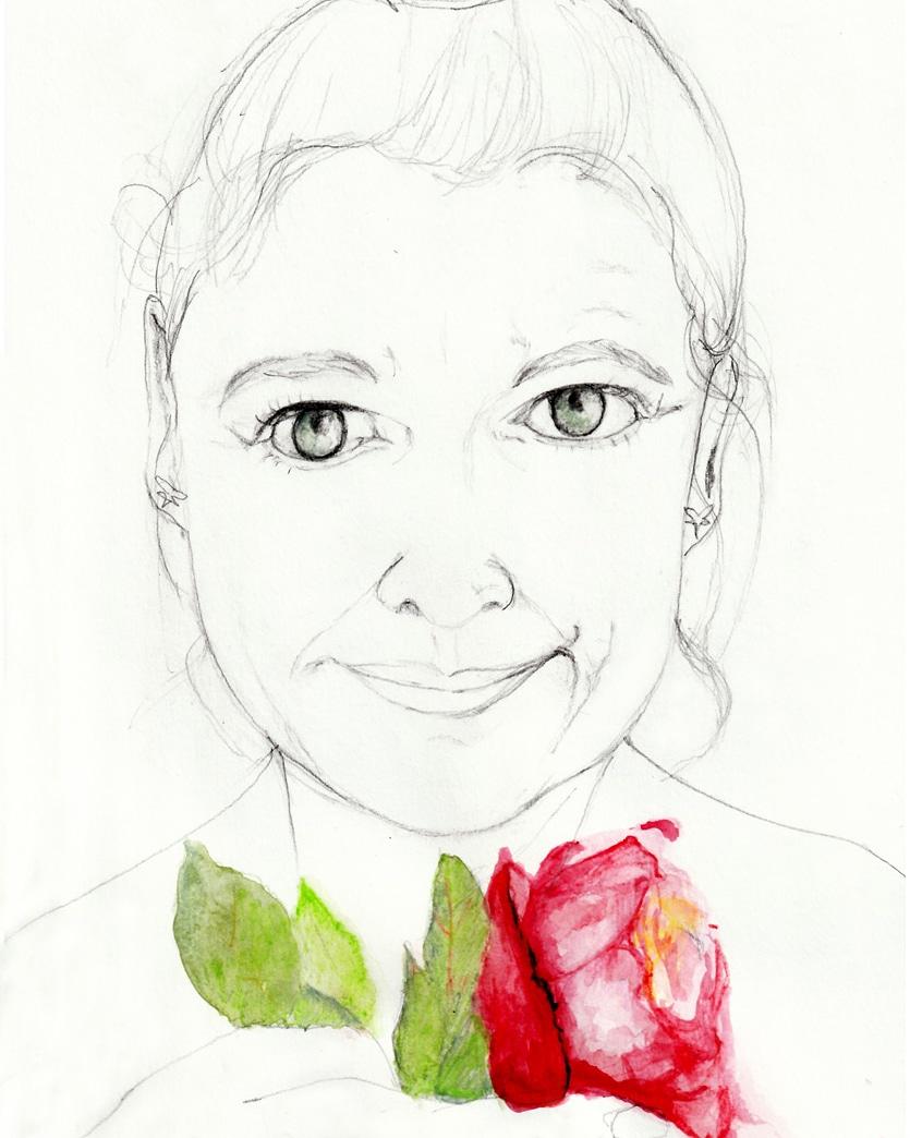 Serie Rose, je 29,7 cm x 21 cm