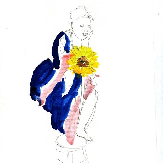 Serie Sonnenblumen, je 42 cm x 29,7 cm