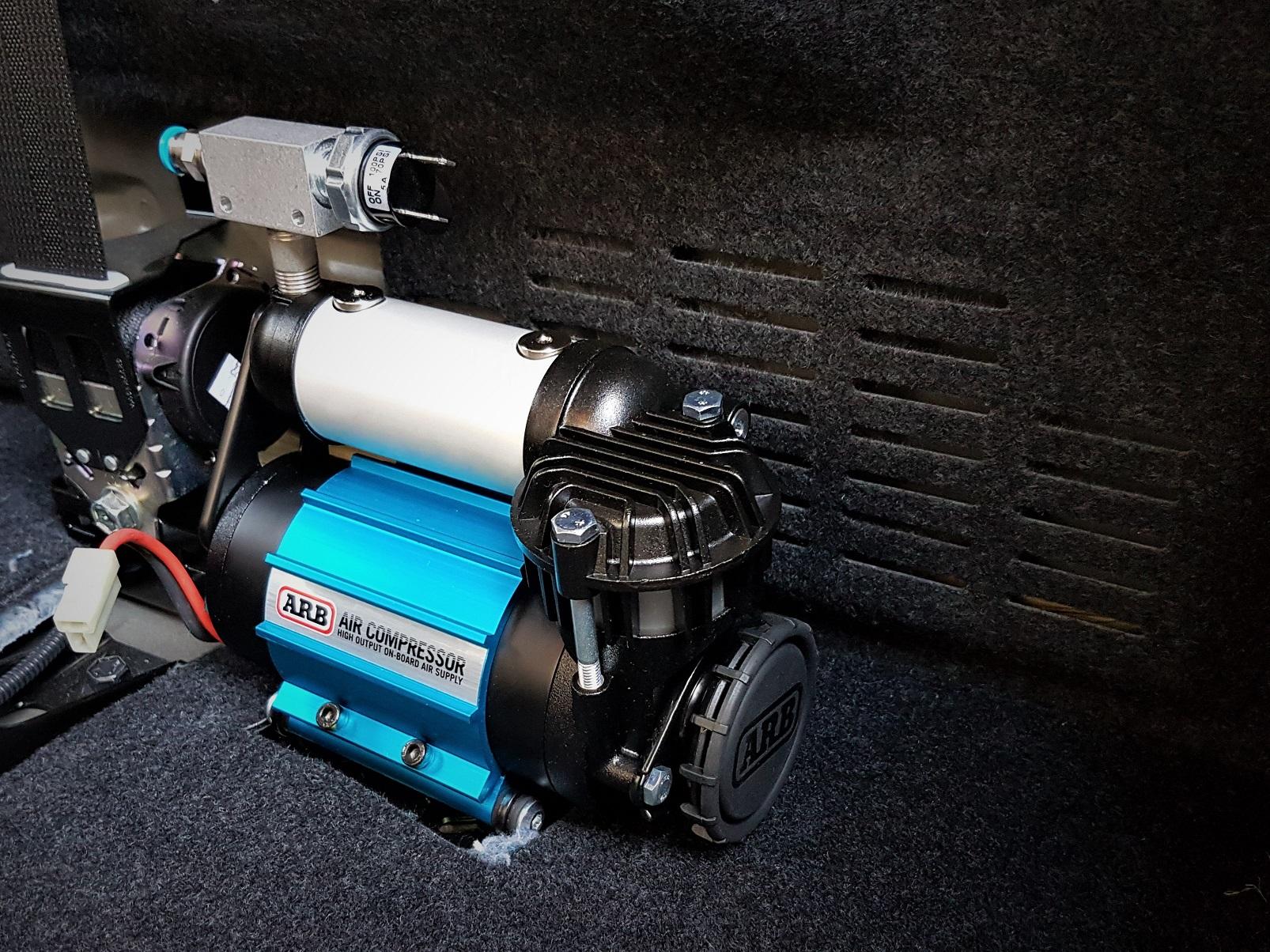 offroad ARB Kompressor CKMA12 Festmontage 75L/Min 4x4 overland Toyota Hilux overland expedition #ProjektBlackwolf
