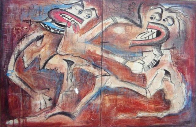 Sans titre - 2002 - 120 x 80 cm - Acrylique, pastel