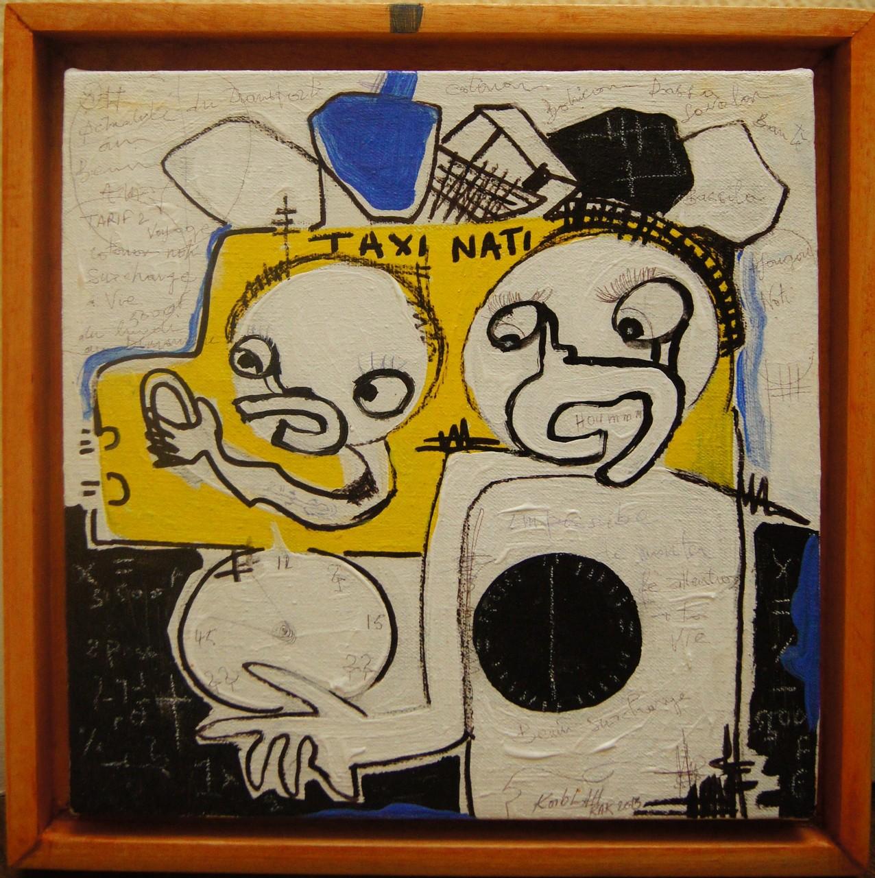Taxi Nati - 2013 - 26,5 x 26,5 cm - Acrylique