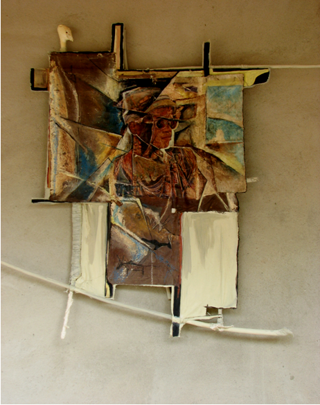 Mohammed - 2004 - 60 x 80 cm - Acrylique, pastel, collage