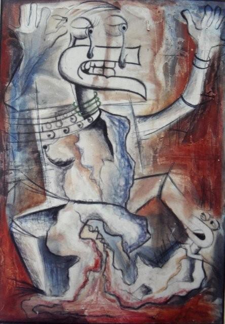 Sans titre - 2002 - 60 x 80 cm - Acrylique, pastel