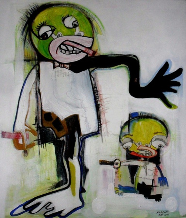Prêts à être libérés - 2014 - 60 x 70 cm - Acrylique, pastel