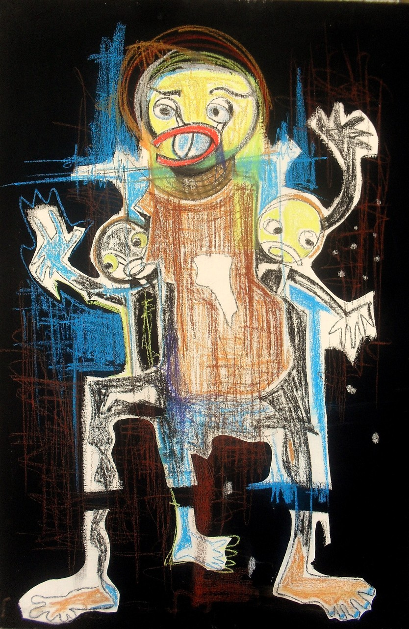 La joie familiale - 2013 - 60 x 90 cm - Acrylique, pastel