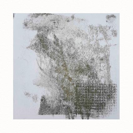 """""""Pflanzen Abstract VI""""  Unikat auf 15 cm x 15 cm  naturweißem Papier"""