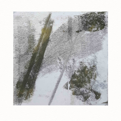 """""""Pflanzen Abstract III""""  Unikat auf 15 cm x 15 cm  naturweißem Papier"""