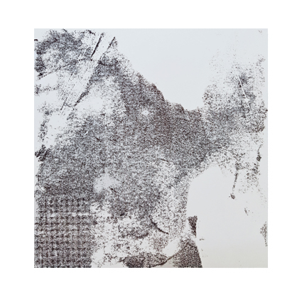 """""""Pflanzen Abstract IV""""  Unikat auf 15 cm x 15 cm  naturweißem Papier"""