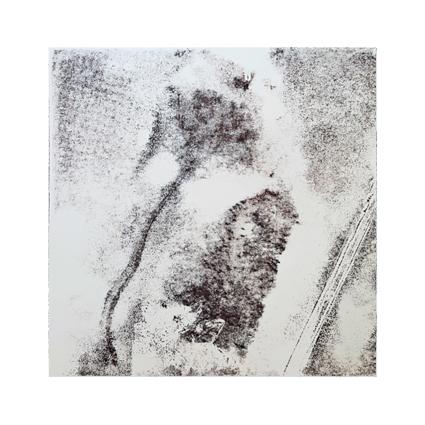 """""""Pflanzen Abstract V""""  Unikat auf 15 cm x 15 cm  naturweißem Papier"""