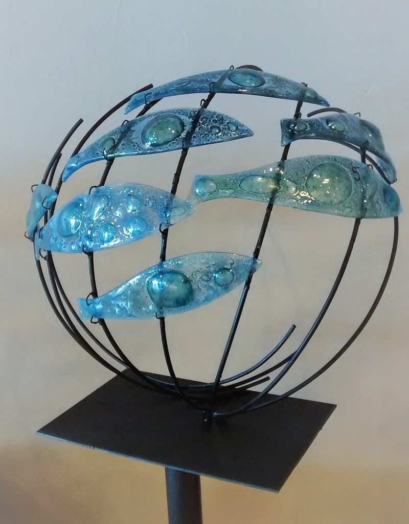 verre francis romani sculptures en acier verre fusing. Black Bedroom Furniture Sets. Home Design Ideas