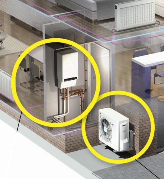 Installazione di caldaie a condensazione, pompe di calore, sistemi ibridi con risparmio delle spese di riscaldamento a Torino e provincia
