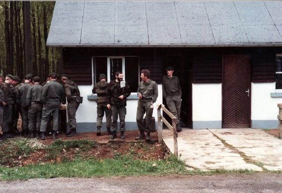 Noch einige, die ich kenne: von rechts: Sgt CSOR Leo Georges, Sgt CSOR Helmuth Plumacher (lebt nicht mehr) und Leutnant COR André Henkes