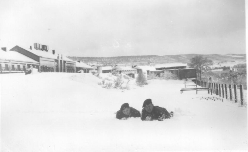 Kaserne Ratz im Schnee versunken am 3. Februar 1953