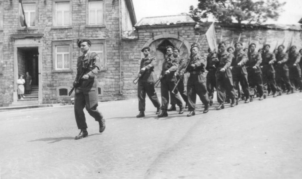 Parade durch Vielsalm am 21. Mai 1953