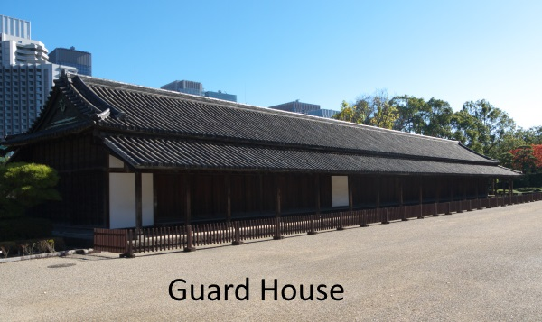 This is one of guardhouses called bansho. A party of daimyo (feudal load) who went to Edo castle was strictly checked here.