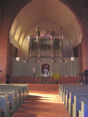 Orgel und Schiff der St.Petri-Kirche zu Cuxhaven