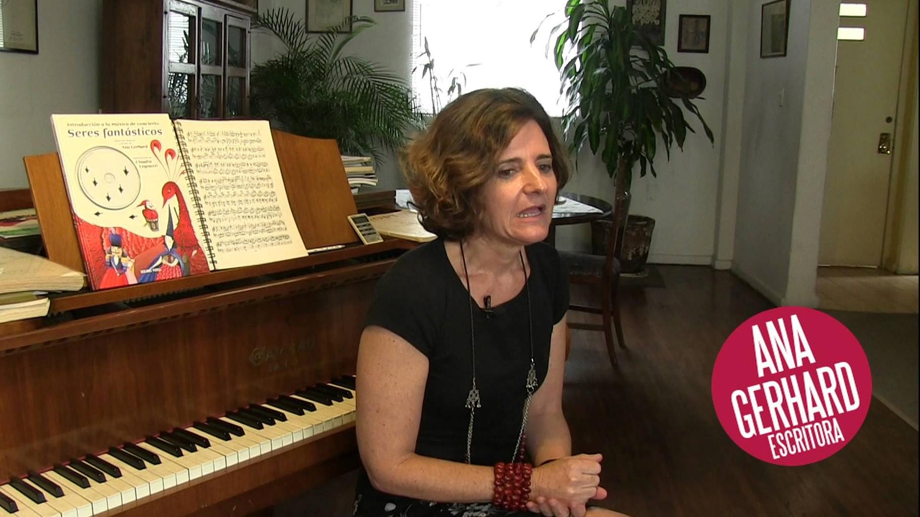 Pianista y escritora.  Ana Gerhard.