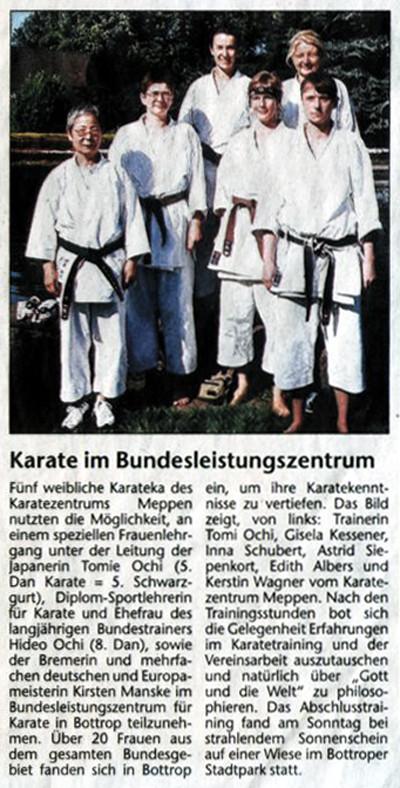 Karate im Bundesleistungszentrum 30.07.2005