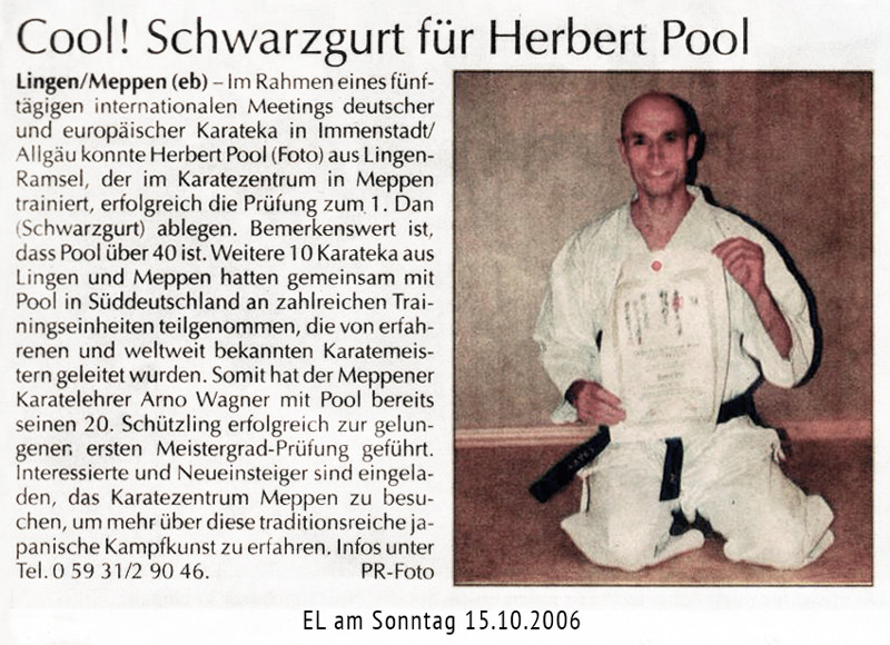 Cool! Danprüfung Herbert Pool 15.10.2006
