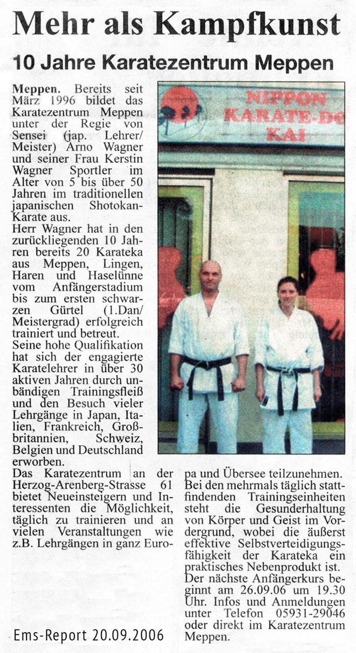 10 Jahre Karatezentrum 20.09.2006