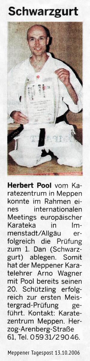 Danprüfung Herbert Pool 13.10.2006