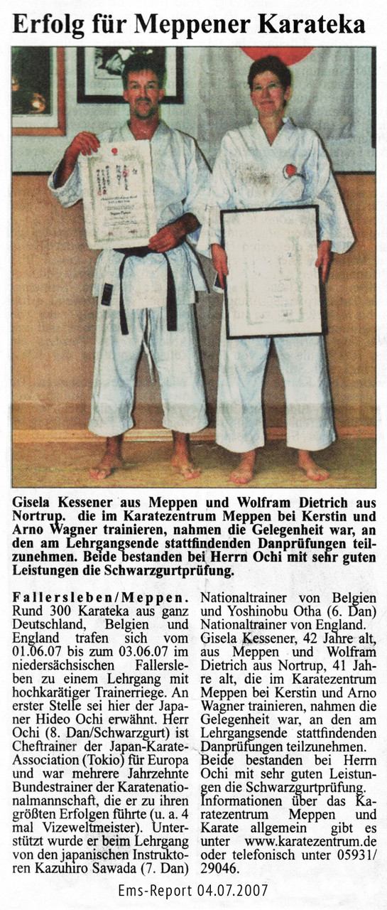 Danprüfung Gisela & Wolfram 04.07.2007
