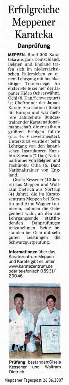 Danprüfung Gisela & Wolfram 26.06.2007