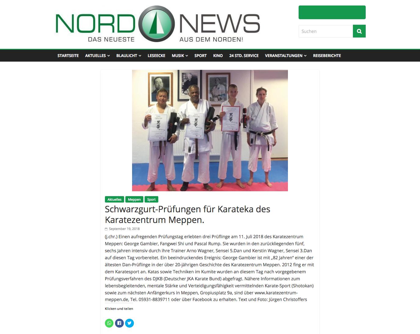Danprüfungen Meppen 11.07.2018, NordNews-Online am 19.09.2018