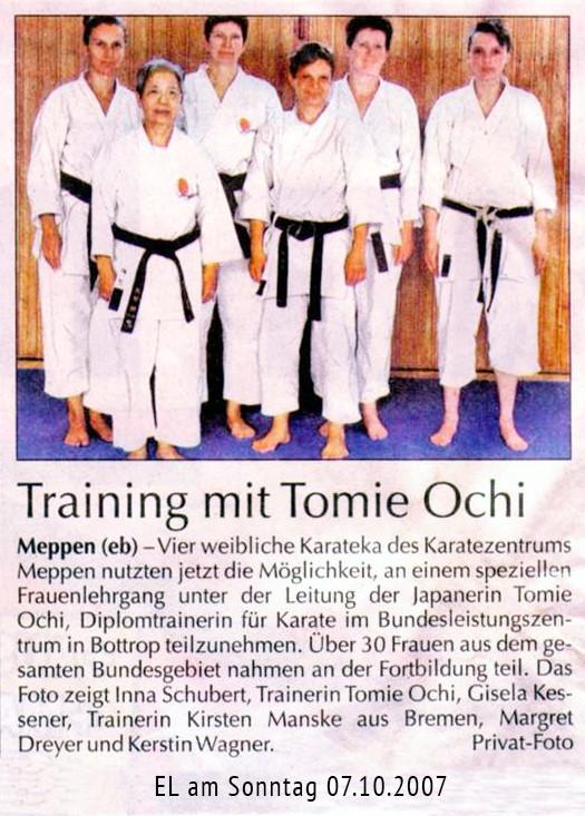 Frauenlehrgang 07.10.2007