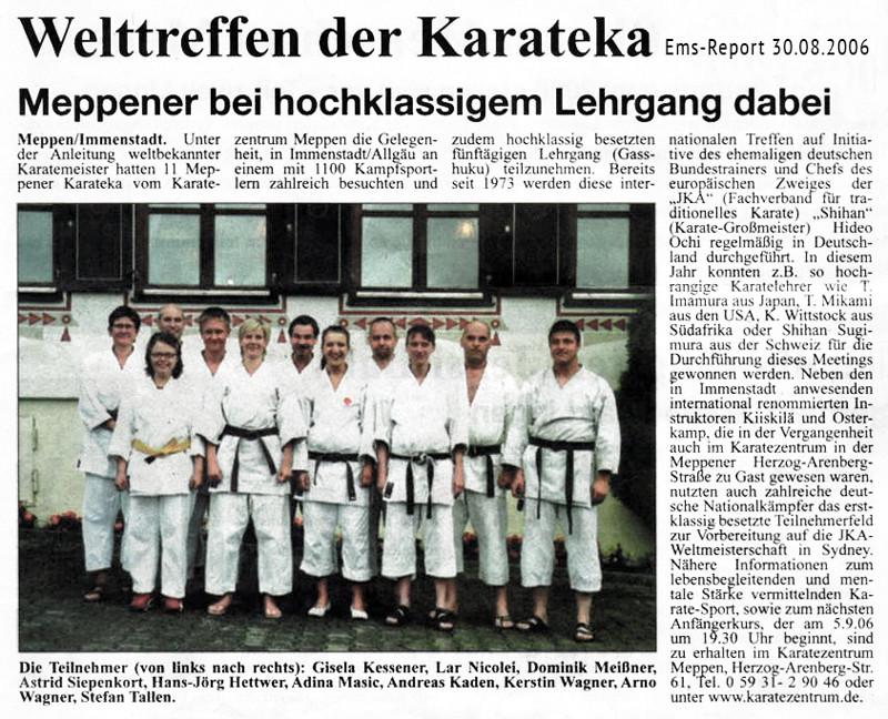 Gasshuku Immenstadt 30.08.2006