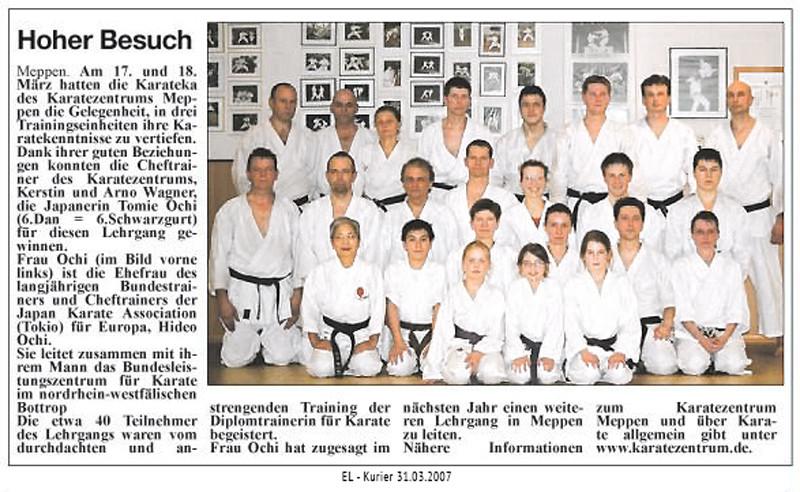 Ochi Sensei in Meppen 04.04.2007