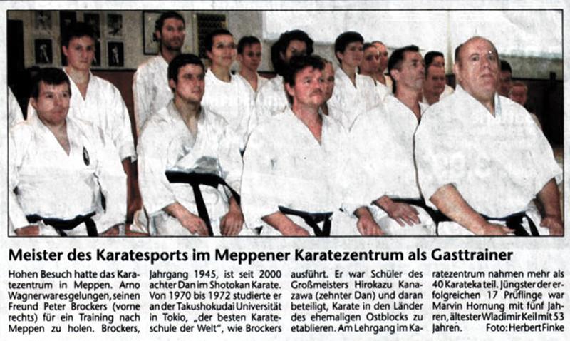 Meister des Karatesports im Meppener Karatezentrum als Gasttrainer 28.12.2005