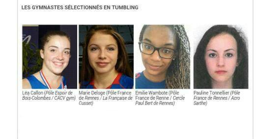 L'Equipe de France de Tumbling féminin