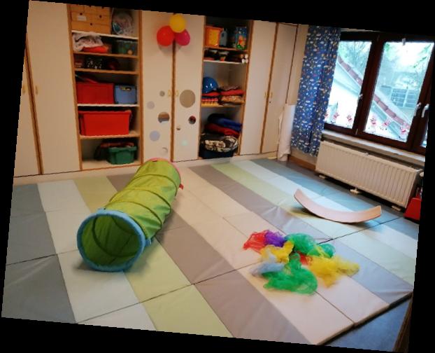 Differenzierungsraum, z. B für Bewegung und Entspannung