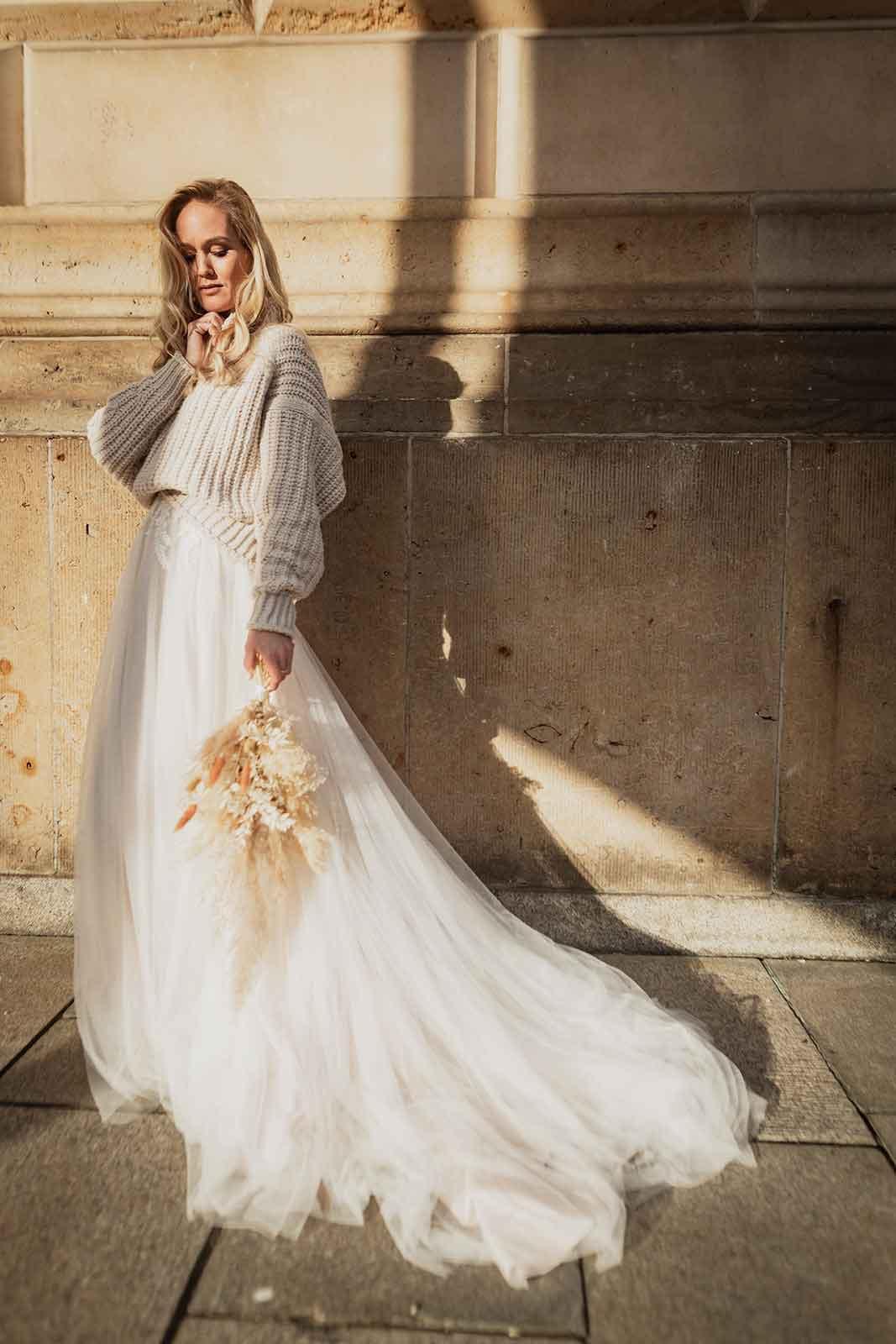 Ein Pullover zum Brautkleid