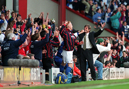 Final whistle: Anfield, Sunday 14th May 1995 - Blackburn Rovers: Champions of England.