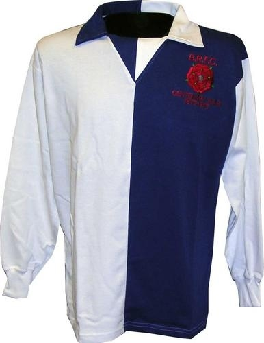 Worn during Rovers' centenary year celebration and Third Division Championship winning squad by such club legends and fan favourites as Parkes, Martin, Beamish, Fazackerley, Heaton, Hird and Blackburn born Metcalfe.