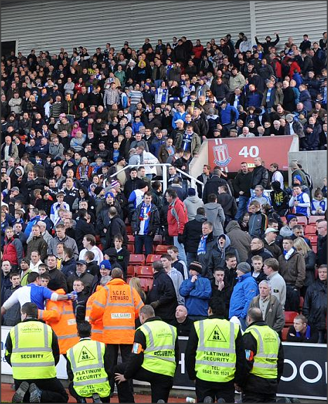 Rovers fans at Stoke, 2010.
