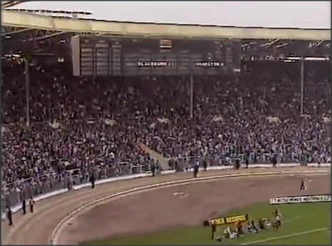 Rovers end of Wembley, Full Members Cup Final: 29/03/1987.