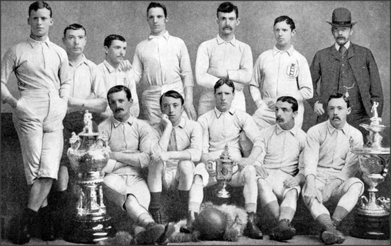 Blackburn Rovers, FA Cup winners;1884.