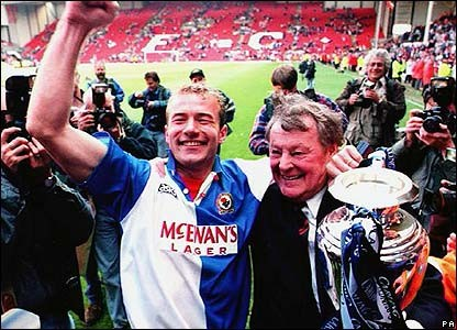 Alan Shearer Jack Walker Blackburn Rovers 1995